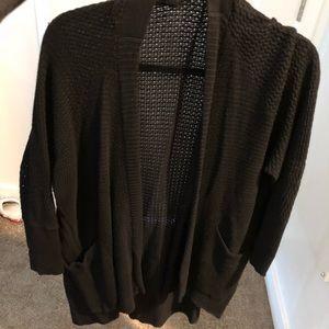 Express Black knit sweater cardigan